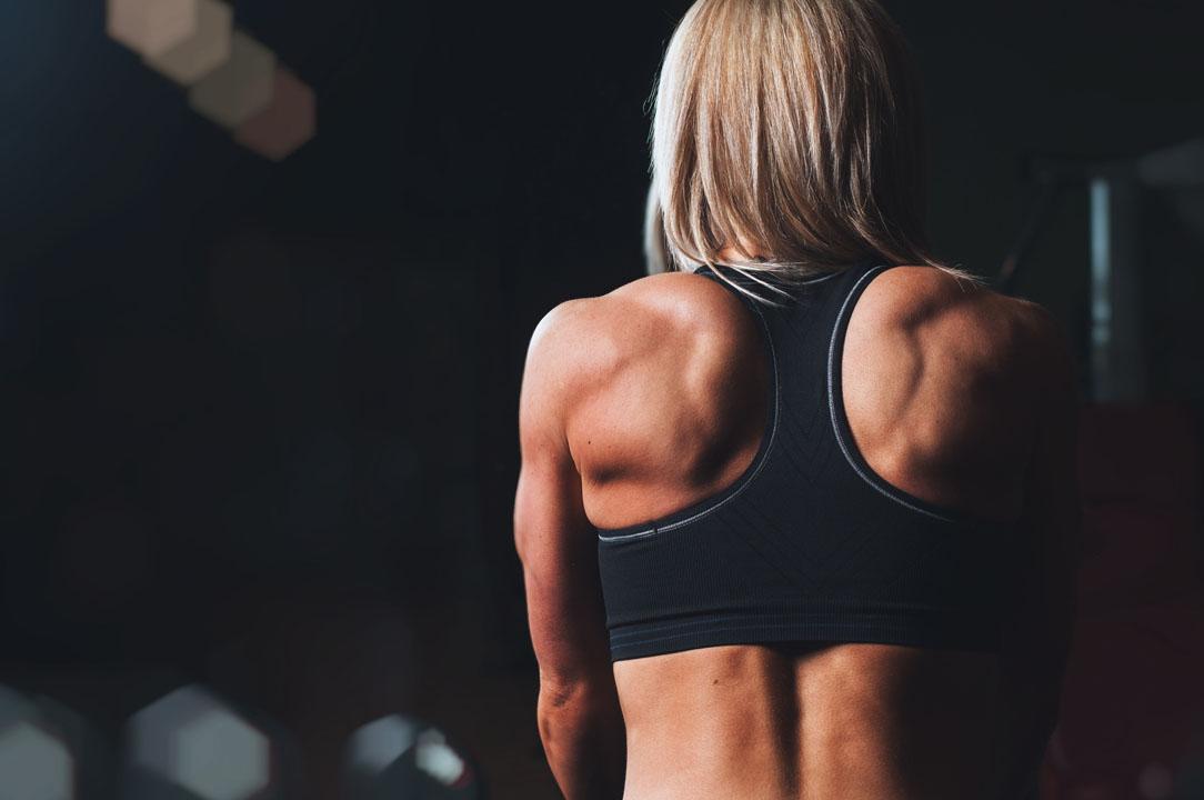 female bodybuilders back muscles